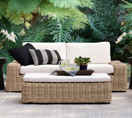 Monterey All Weather Wicker 83 Sofa, All Weather Wicker Outdoor Furniture