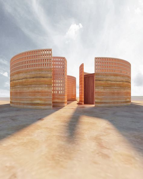 The Quell, Linda Hutchins – Beta Architecture Vernacular Architecture, Sustainable Architecture, Architecture Details, Landscape Architecture, Residential Architecture, Contemporary Architecture, Rammed Earth Homes, Rammed Earth Wall, Concrete Footings