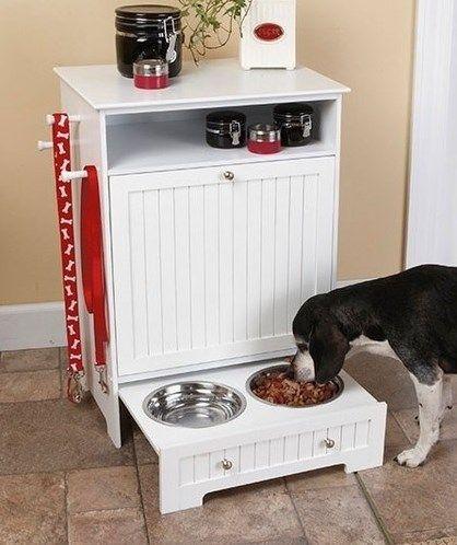 Hidden Dog Bowls Diy Feeding Station