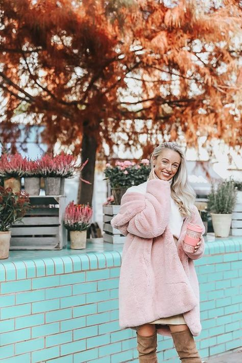 Blogger Fashion Mumblr takes on winter style like a pro in pretty pastels.