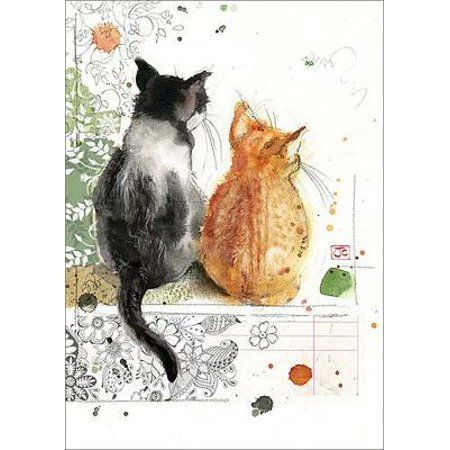 Two Kittens Blank Greeting Card Other Watercolor Arts In 2019
