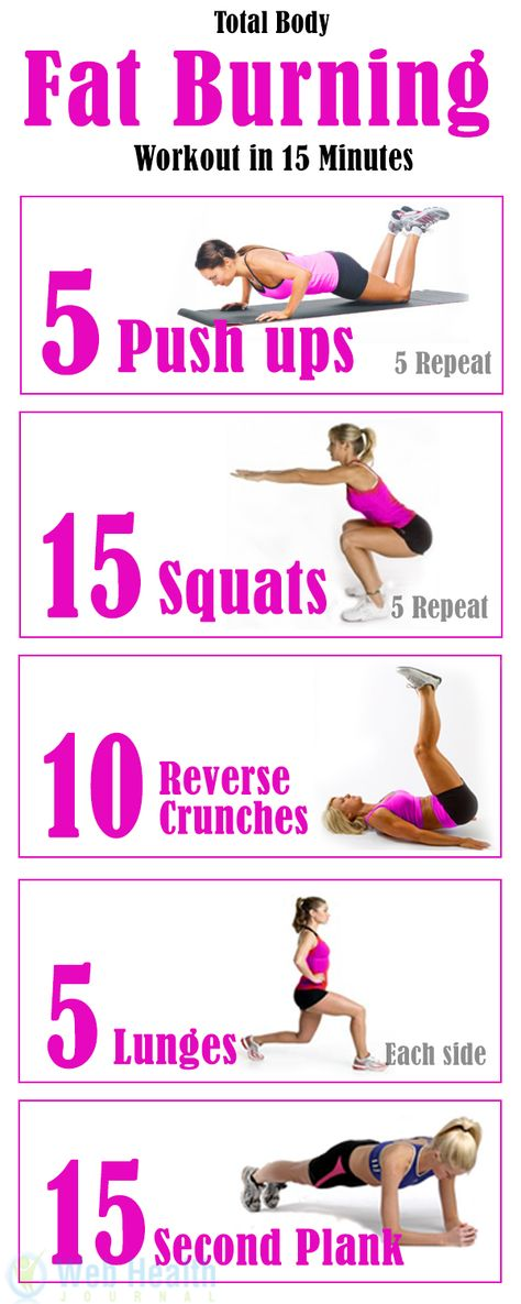 Total Body Fat Burning Workout in 15 Minutes. /explore/fitness/
