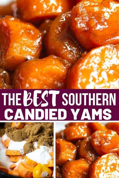 The best southern candied yams ever! #candiedyams #southerncandiedyam #candiedsweetpotatoes #sweetpotatoes #soulfoodcandiedyams #soulfood #stovetopcandiedyams #thanksgivingrecipes #thanksgivingsidedish #sidedish  #southernrecipes