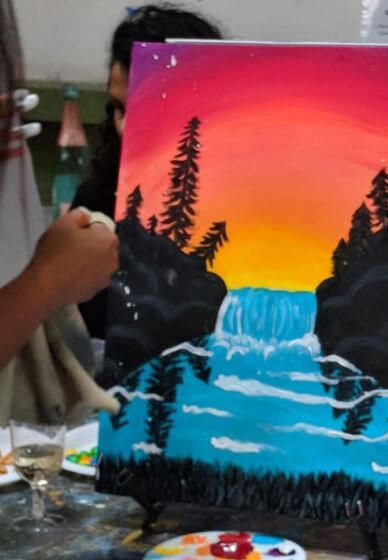 Canvas Painting Ideas For Beginners Step By Step Beginner Painting Paint And Sip Easy Canvas Painting