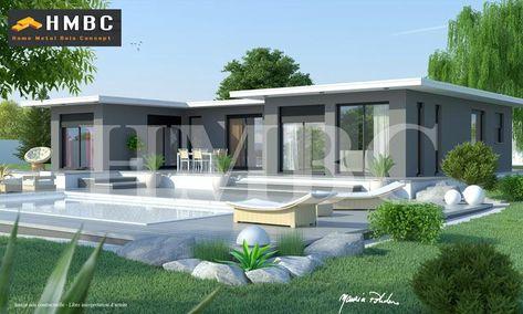Maison moderne elysa 137 m2 hmbc home metal bois concept constructeur de maisons individuelles a albertville en savoie et en région rhône alp