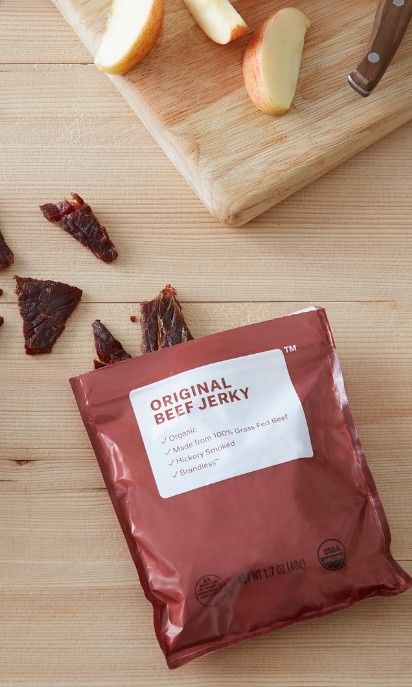 3 100 Organic Grass Fed Beef Jerky Is The Perfect Protein Packed Snack For School Work Or Organic Grass Fed Beef Protein Packed Snacks Grass Fed Beef Jerky