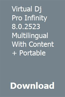 Virtual Dj Pro Infinity 8 0 2523 Multilingual With Content