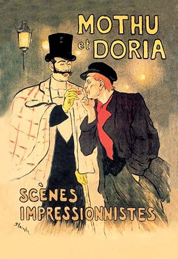 Wall art. Reproduction Vintage  advert poster Cartell Steinlen