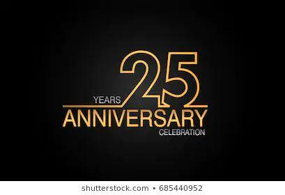 25 周年庆典标志与优雅的金色庆典 库存矢量图 免版税 797848489 Anniversary Logo 25th Anniversary 25 Year Anniversary