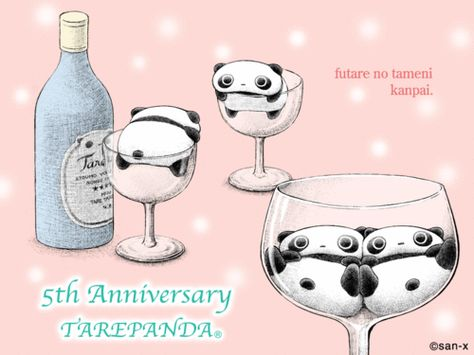 Tare Panda In A Champagne Glass
