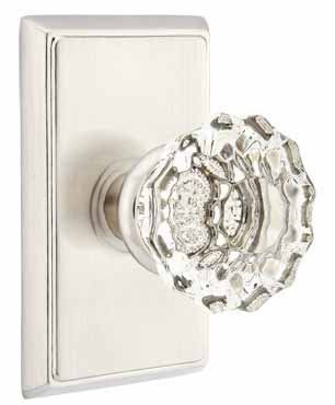 crystal door knobs emtek 820ot old town clear crystal privacy