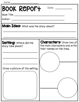 Book Report Flip Chart For Early Readers Book Report Book Study Early Readers