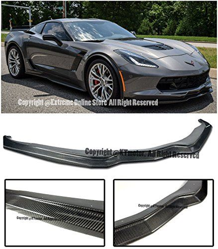Amazon Com Z06 S Z07 Performance Package Stage 2 Style Carbon Fiber Front Bumper Lower Lip Splitter For 1 Chevrolet Corvette C7 Chevrolet Corvette Corvette C7