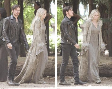 "Colin & Jennifer filming on July 14, 2015 episode 5x01 ""Dark Swan"""