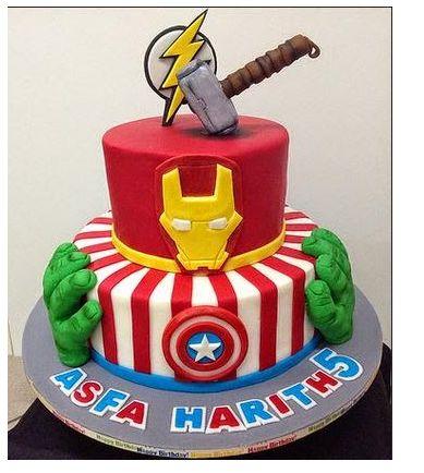 Avengers Birthday Cake Avengers Pinterest Avengers birthday