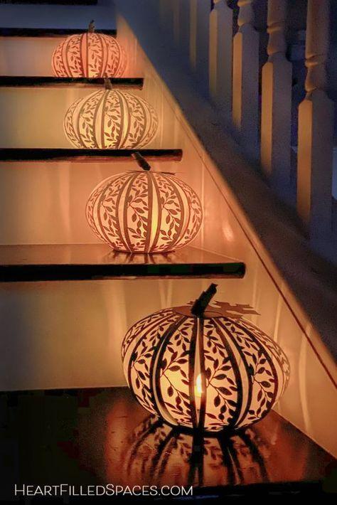 Fall Home Decor, Autumn Home, Paper Pumpkin, How To Make Paper, Fall Pumpkins, Fall Crafts, Diy Crafts, Fall Season, Diy Paper Lanterns