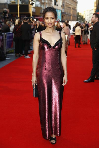 Gugu Mbatha-Raw attends the European premiere of 'A Private War' during the 62nd BFI London Film Festival.