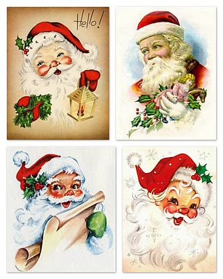 Growing up in England with Father Christmas, my mother was always fascinated with the depiction of our Santa Claus when she moved to the US.  Seems she sent Christmas cards with his likeness on the front of the card most years.