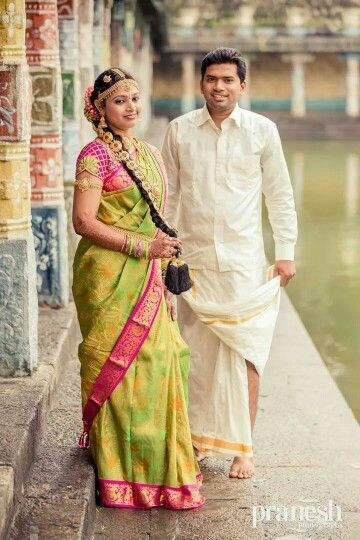Traditional Tamil Wedding Wear Indian Bride And Groom Indian Wedding Couple South Indian Bride