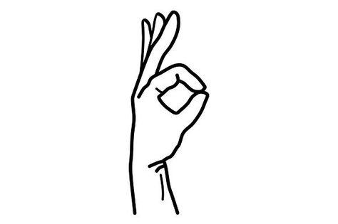 Hand Ok Sign Body Art Tattoos Diy Tattoo Ok Hand Sign