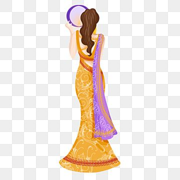 Karwa Chauth Kartika Indian Woman Festival Illustration Karwa Chauth Kartika India Png Transparent Clipart Image And Psd File For Free Download Indian Women Indian Festivals Women