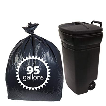 Plastic 95 Gallon Trash Bags