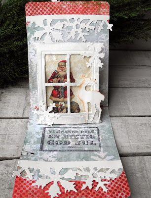 winter/Santa window scene