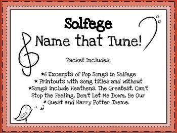 Solfege Name That Tune Name That Tune Solfege Pop Songs