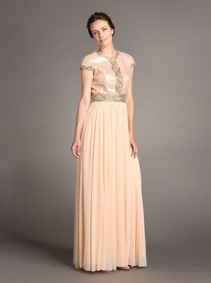 Terani Couture Womens Satin & Bead Evening Gown, http