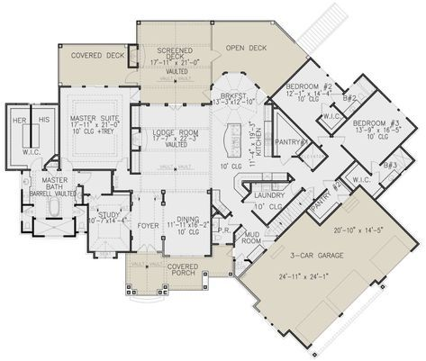 House Plan 699 00256 Craftsman Plan 3 730 Square Feet 3 Bedrooms 3 5 Bathrooms In 2020 How To Plan House Plans Farmhouse Dream House Plans