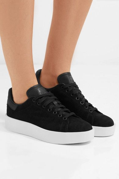 adidas Originals | Stan Smith Bold leather trimmed suede