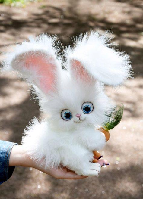 Snowball Bunny   Etsy