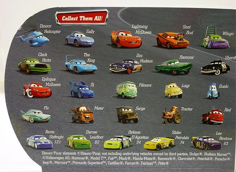 Disney Cars Character Names on Pinterest  Disney Cars, Disney Stores and Cars
