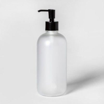Oversized Plastic Soap Lotion Dispenser Clear Room Essentials