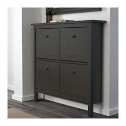 hemnes shoe cabinet with 4 compartments black brown shoe storage rh pinterest com