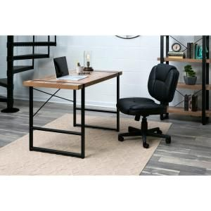 Onespace 47 In Rectangular Brown Black Writing Desk With Open Storage 50 Jn22dsk The Home Depot Wood Writing Desk Home Black Writing Desk