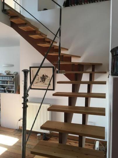 Escalier Escalier Bois Granito Carreau De Ciment