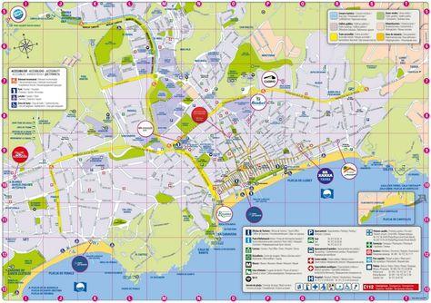 Costa Adeje tourist map Maps Pinterest Tourist map Tenerife