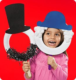 President's Day Mask Craft. FREE printables and directions from Lakeshore Learning.