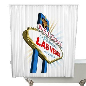 Welcome To Las Vegas Shower Curtain Las Vegas Making Room Curtains