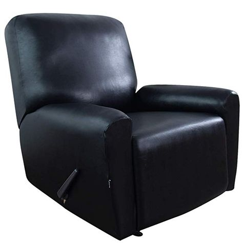 Easy Going Pu Leather Recliner Slipcovers Waterproof Stretch Sofa Covers 4 Pieces Stretch Furniture Protector Leather Recliner Recliner Slipcover Slipcovers