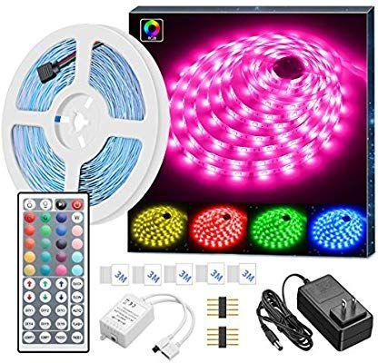 Amazon Com Led Strip Lights Govee 16 4ft Rgb Led Light Strip 5050 Led Tape Lights Color Changing Led Tape Lighting Strip Lighting Led Color Changing Lights