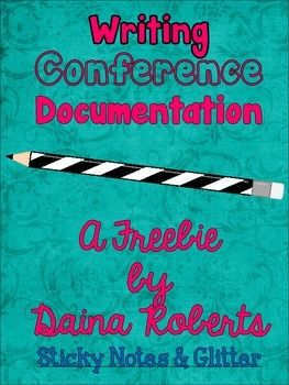 Hi!  This freebie is to be used for documenting your writing conferences with your students.   The idea is that you will circle a Teaching Point that you address with the child during your conferencing and then write out a quick goal for that student to work on once they return to their writing piece.