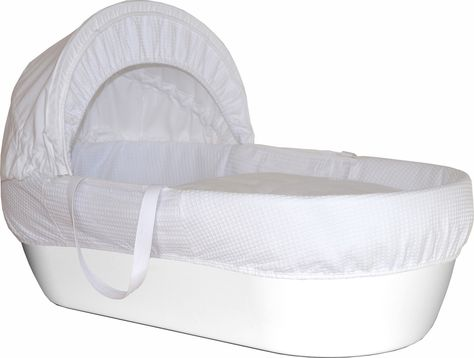 Shnuggle Basket Pure White Moses Basket Baby Moses Basket
