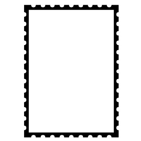 Unmounted Rubber Stamp Faux Postage Frame With Perforated Edges