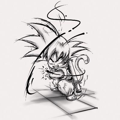 Tatouage Dragon Ball Son Goku Manga Par Franck Chez Makara Tatouage A Saint Mesmin Tatuagens De Anime Desenhos Para Tatuagem Desenhos De Tatuagem De Coruja