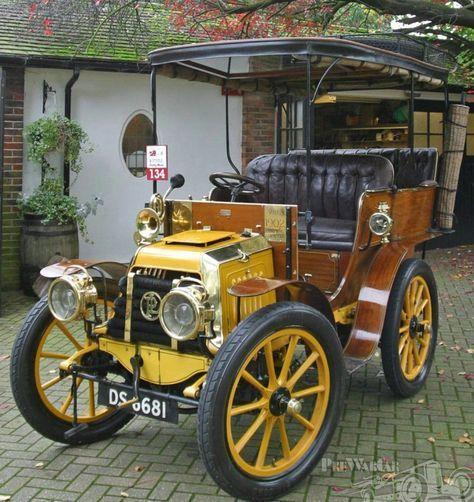 1902 Panhard Et Levassor A2 Centaure Rear Entrance Tonneau Antique Cars Classic Cars Vintage Vintage Cars