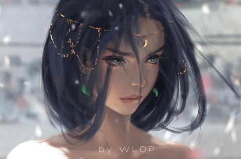DeviantArt - Discover The Largest Online Art Gallery and Community by wlop Anime Art, Fantasy Artwork, Fantasy Art, Art Girl, Art, Portrait, Fantasy Girl, Digital Art Girl, Online Art Gallery