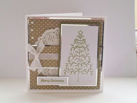 Dreamees Christmas Tree Stamp Handmade Card Ergasies Poy 8elw Na