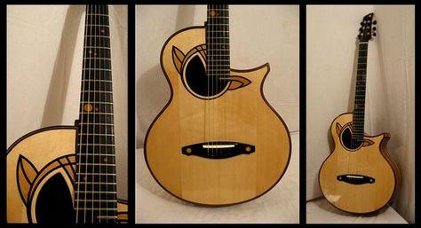 Guitare Folk N 24 Modele Callicore Details Table Epicea Fond